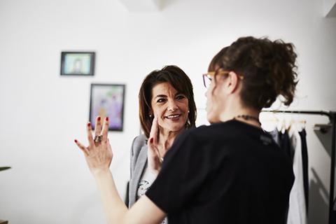 Portraits reportage Couleur Mme Estrosi présente à l'Inauguration Hattori Boutique Nice