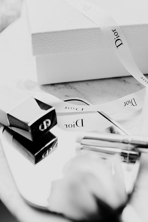 Nature morte photographie de la Blogueuse Cécile Na pour un partenariat avec la marque Dior.