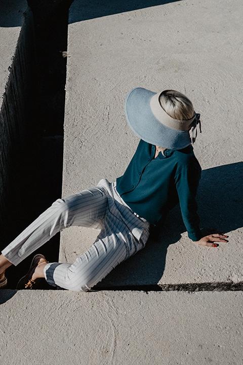 fashion urban photographie Bloggeur sur roche graphique Côte d'azur