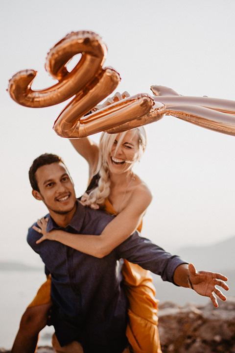 Séance photo de Couple réalisée à l'occasion des fiançailles de la blogueuse Cécile Na, Nice