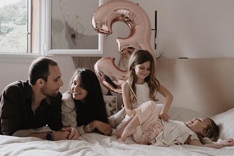 Séance photo Famille réalisée en Intérieur, Nice