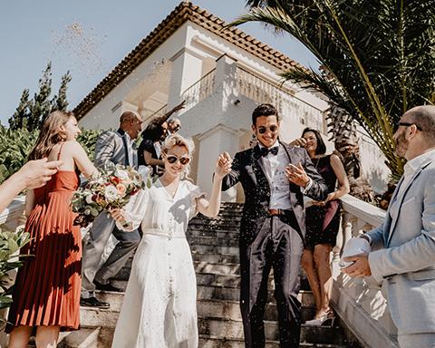 Coffret Mariage/  Entrée des Mariés, réalisé à Nice