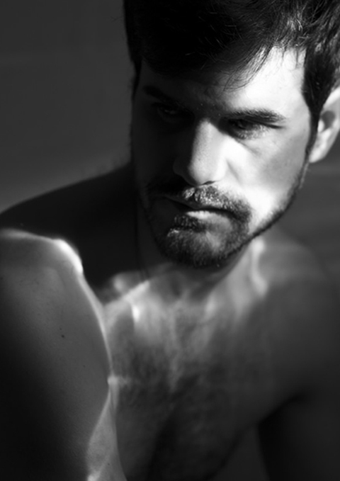 fashion photographie Portrait noir et blanc lumière