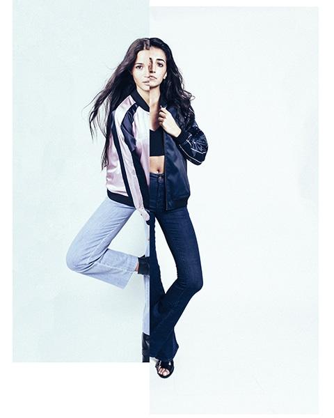 fashion photographie Campagne Hattori Boutique jeu de double  portraits de femmes couleur